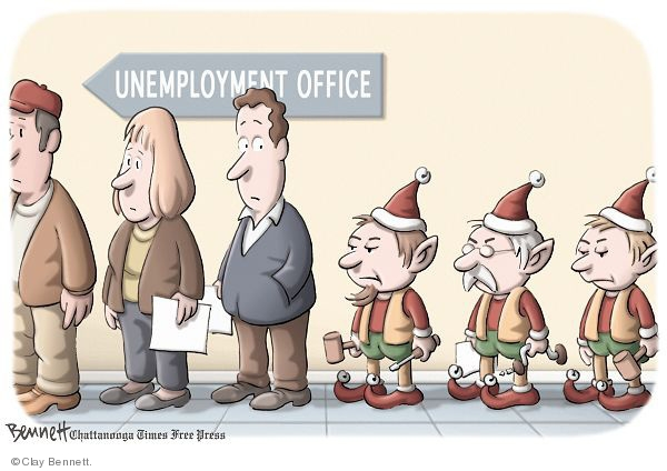 Cartoonist Clay Bennett  Clay Bennett's Editorial Cartoons 2009-12-27 unemployment