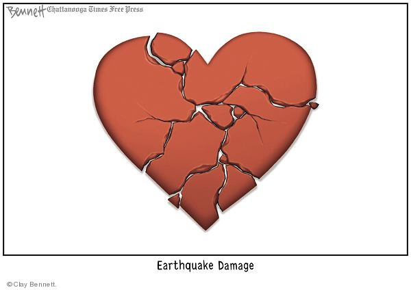Cartoonist Clay Bennett  Clay Bennett's Editorial Cartoons 2010-01-16 disaster
