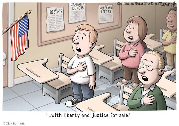 Cartoonist Clay Bennett  Clay Bennett's Editorial Cartoons 2010-01-23 campaign contribution