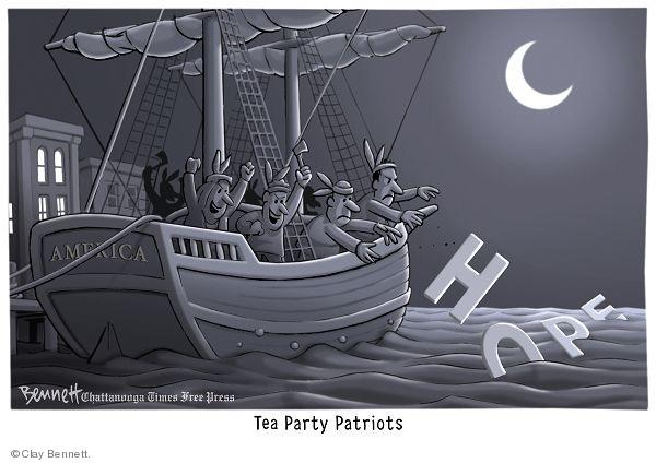 Clay Bennett  Clay Bennett's Editorial Cartoons 2010-01-24 boat