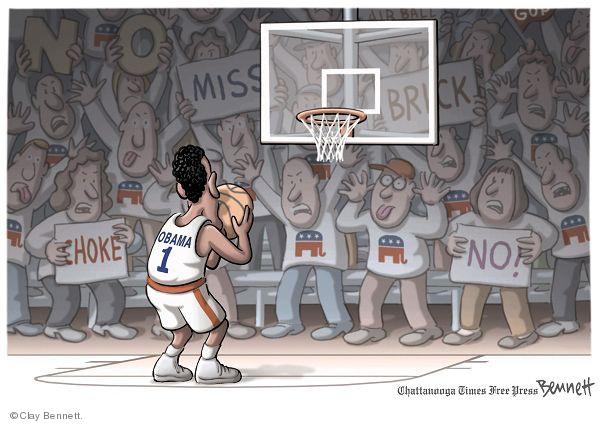 Cartoonist Clay Bennett  Clay Bennett's Editorial Cartoons 2010-03-21 game