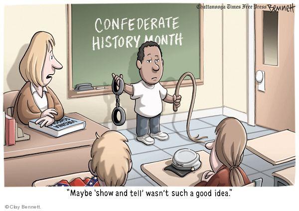 Cartoonist Clay Bennett  Clay Bennett's Editorial Cartoons 2010-04-11 history