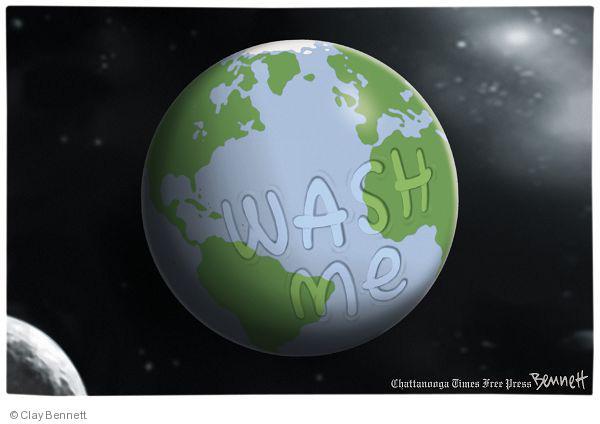 Clay Bennett  Clay Bennett's Editorial Cartoons 2010-04-22 environment