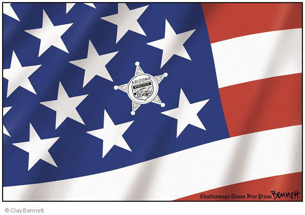 Cartoonist Clay Bennett  Clay Bennett's Editorial Cartoons 2010-05-09 illegal
