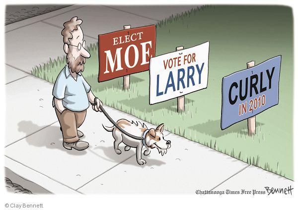 Clay Bennett  Clay Bennett's Editorial Cartoons 2010-06-09 sign in