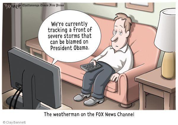Cartoonist Clay Bennett  Clay Bennett's Editorial Cartoons 2010-06-10 Fox News Obama
