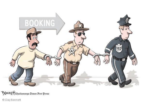 Cartoonist Clay Bennett  Clay Bennett's Editorial Cartoons 2010-07-08 arrest