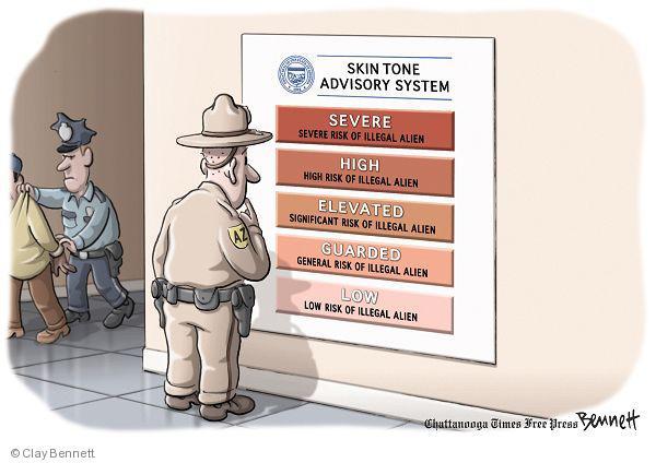 Clay Bennett  Clay Bennett's Editorial Cartoons 2010-07-28 Arizona immigration