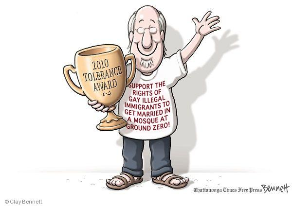 Cartoonist Clay Bennett  Clay Bennett's Editorial Cartoons 2010-08-12 illegal