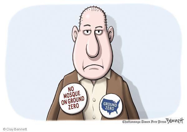 Cartoonist Clay Bennett  Clay Bennett's Editorial Cartoons 2010-08-26 religious discrimination