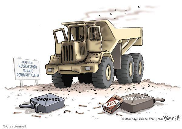 Cartoonist Clay Bennett  Clay Bennett's Editorial Cartoons 2010-08-31 religious discrimination
