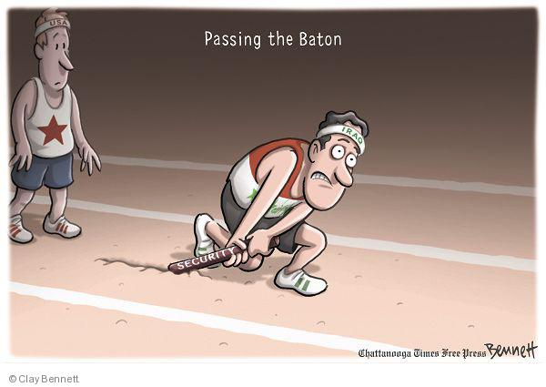 Passing the baton. Security. USA. Iraq.