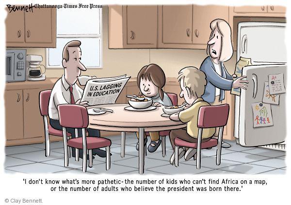 Clay Bennett  Clay Bennett's Editorial Cartoons 2010-09-28 map