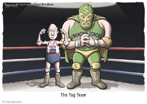 Cartoonist Clay Bennett  Clay Bennett's Editorial Cartoons 2010-10-13 campaign finance