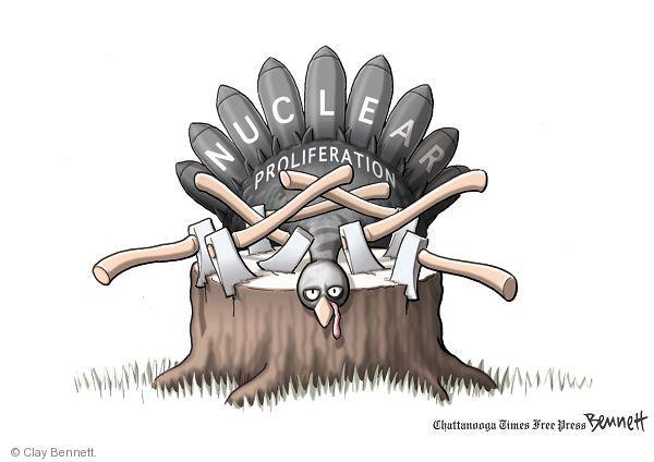 Cartoonist Clay Bennett  Clay Bennett's Editorial Cartoons 2010-11-23 nuclear bomb