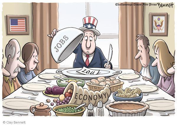Cartoonist Clay Bennett  Clay Bennett's Editorial Cartoons 2010-11-25 unemployment