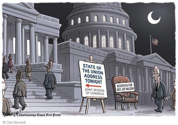 Cartoonist Clay Bennett  Clay Bennett's Editorial Cartoons 2011-01-25 seat
