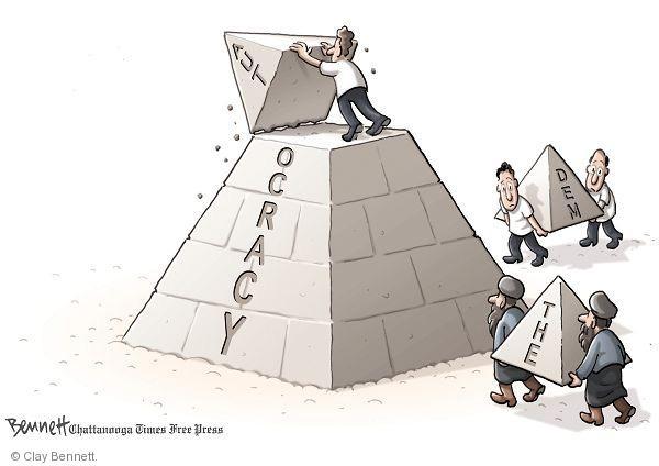 Clay Bennett  Clay Bennett's Editorial Cartoons 2011-02-01 pyramid