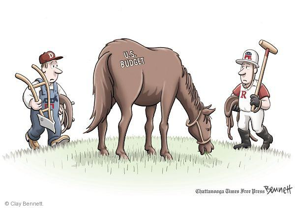 Clay Bennett  Clay Bennett's Editorial Cartoons 2011-02-19 budget deficit