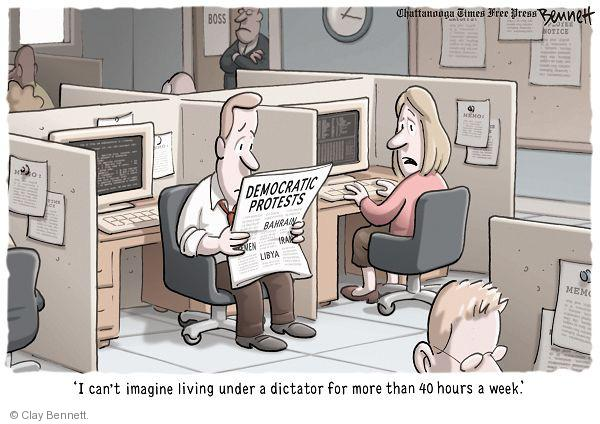 Cartoonist Clay Bennett  Clay Bennett's Editorial Cartoons 2011-02-23 Iran