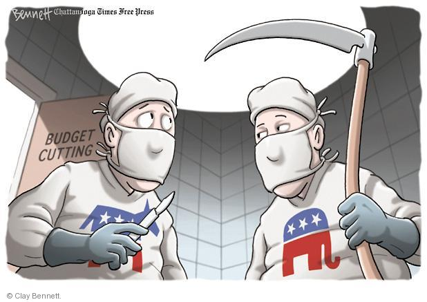 Clay Bennett  Clay Bennett's Editorial Cartoons 2011-03-02 budget deficit