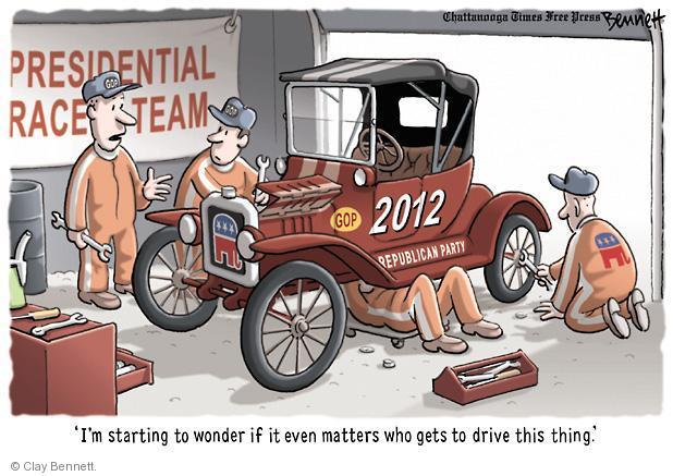 Cartoonist Clay Bennett  Clay Bennett's Editorial Cartoons 2011-03-03 race