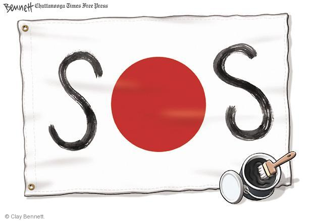 Cartoonist Clay Bennett  Clay Bennett's Editorial Cartoons 2011-03-15 disaster