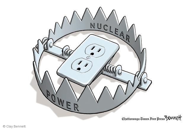 Cartoonist Clay Bennett  Clay Bennett's Editorial Cartoons 2011-03-17 nuclear power