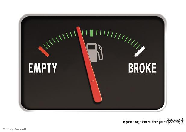 Clay Bennett  Clay Bennett's Editorial Cartoons 2011-04-26 expense