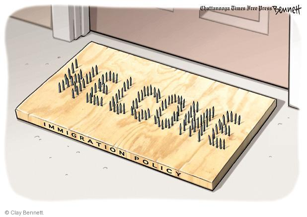 Clay Bennett  Clay Bennett's Editorial Cartoons 2011-05-11 anti-immigration