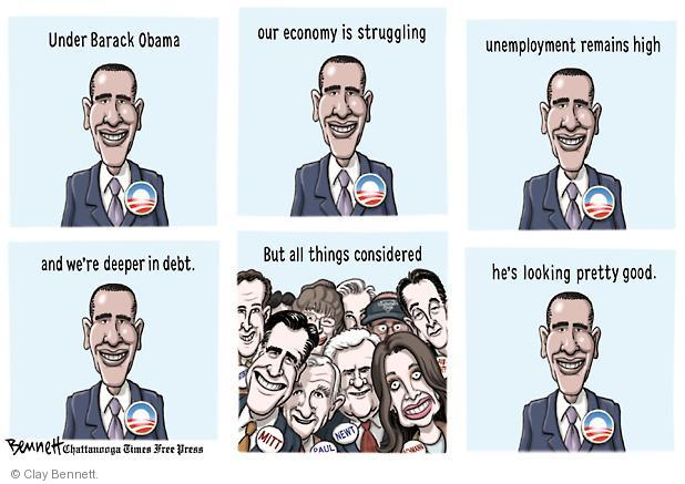 Cartoonist Clay Bennett  Clay Bennett's Editorial Cartoons 2011-06-14 unemployment