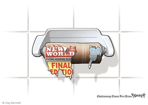 Clay Bennett  Clay Bennett's Editorial Cartoons 2011-07-20 toilet