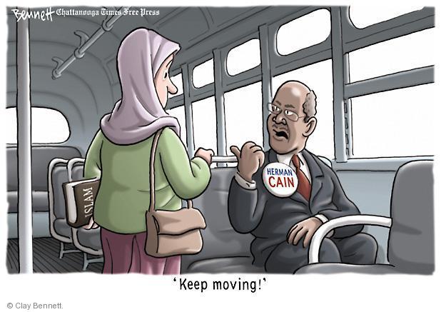 Cartoonist Clay Bennett  Clay Bennett's Editorial Cartoons 2011-07-21 religious discrimination
