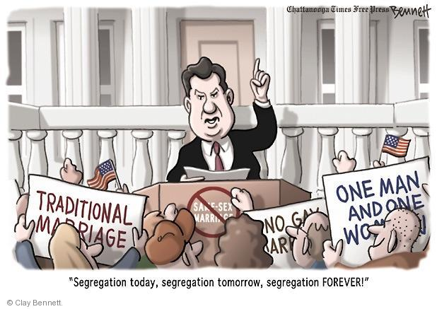 Cartoonist Clay Bennett  Clay Bennett's Editorial Cartoons 2011-07-26 separation