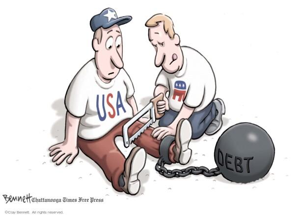 Clay Bennett  Clay Bennett's Editorial Cartoons 2011-07-27 federal budget