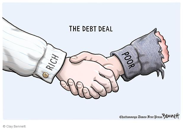 Clay Bennett  Clay Bennett's Editorial Cartoons 2011-08-02 poor