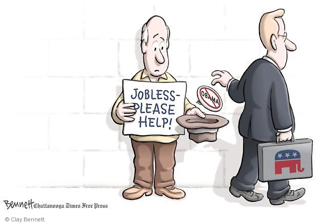 Cartoonist Clay Bennett  Clay Bennett's Editorial Cartoons 2011-08-06 button