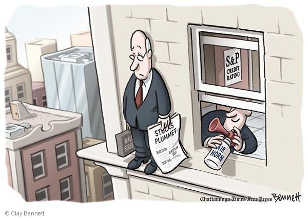 Cartoonist Clay Bennett  Clay Bennett's Editorial Cartoons 2011-08-09 recession