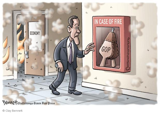 Economy. In Case of Fire. GOP.