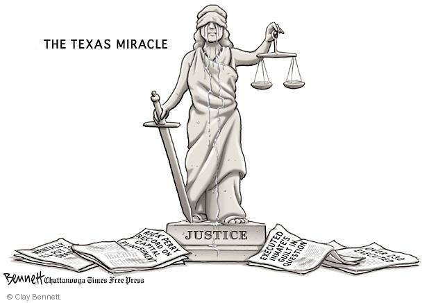Cartoonist Clay Bennett  Clay Bennett's Editorial Cartoons 2011-09-14 Texas