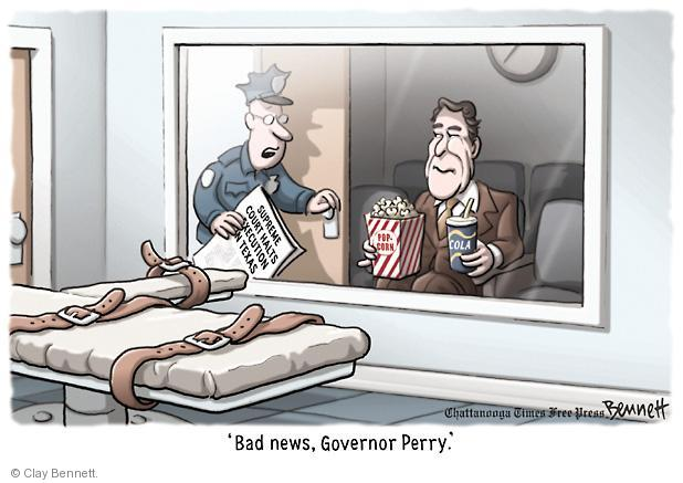 Cartoonist Clay Bennett  Clay Bennett's Editorial Cartoons 2011-09-19 Texas