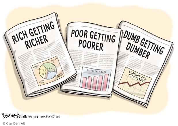 Clay Bennett  Clay Bennett's Editorial Cartoons 2011-09-25 poor