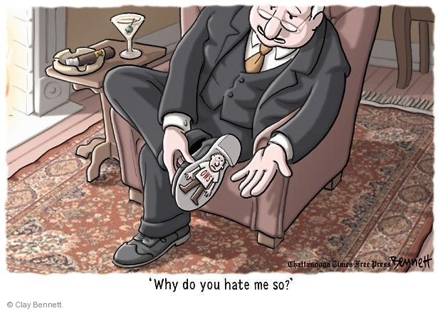 Cartoonist Clay Bennett  Clay Bennett's Editorial Cartoons 2011-10-20 shoe