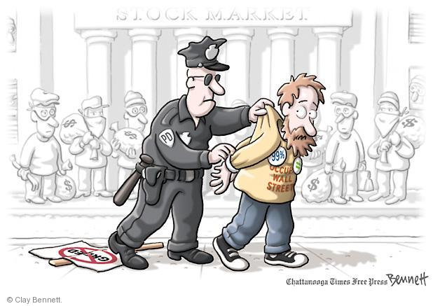 Clay Bennett  Clay Bennett's Editorial Cartoons 2011-11-02 street