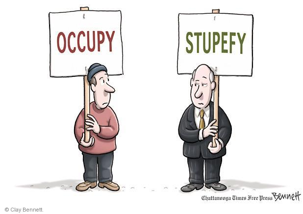 Clay Bennett  Clay Bennett's Editorial Cartoons 2011-11-16 street