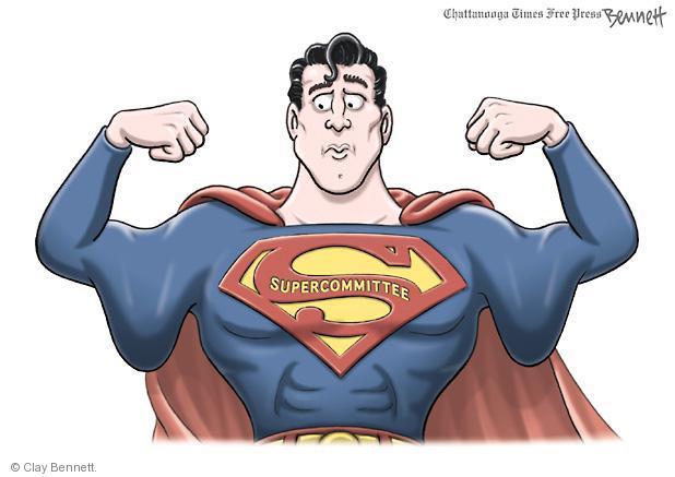 Cartoonist Clay Bennett  Clay Bennett's Editorial Cartoons 2011-11-22 congressional committee