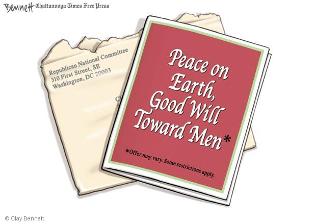 Cartoonist Clay Bennett  Clay Bennett's Editorial Cartoons 2011-12-16 letter