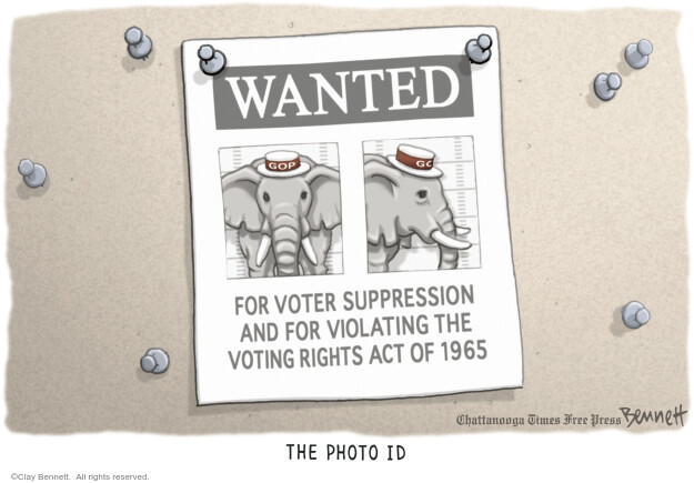 Clay Bennett  Clay Bennett's Editorial Cartoons 2011-12-28 voting rights