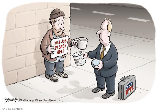 Cartoonist Clay Bennett  Clay Bennett's Editorial Cartoons 2011-12-29 unemployment