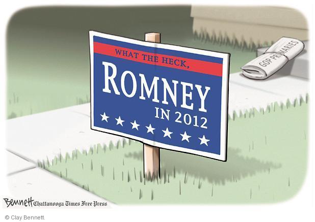 Clay Bennett  Clay Bennett's Editorial Cartoons 2012-01-12 sign in